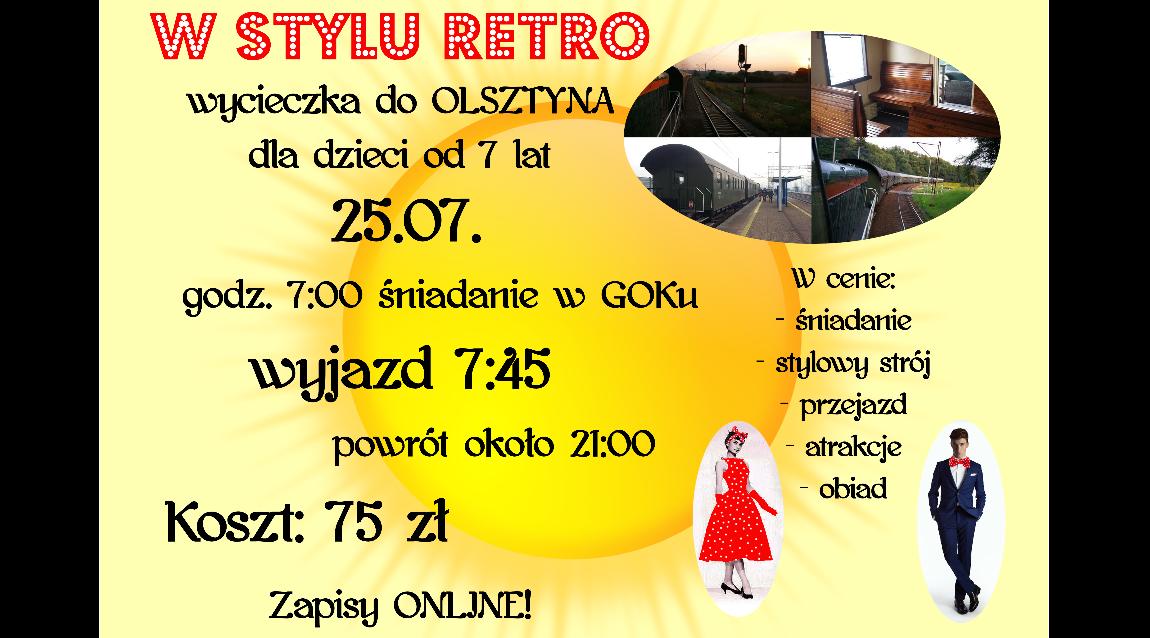 Pociągiem Retro do Olsztyna!